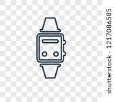 smartwatch concept vector... | Shutterstock .eps vector #1217086585