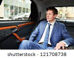 business man goes to the... | Shutterstock . vector #121708738