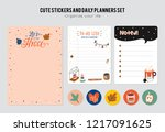 set of planners and to do lists ... | Shutterstock .eps vector #1217091625