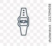 smartwatch vector outline icon... | Shutterstock .eps vector #1217094058