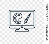 computer screen concept vector... | Shutterstock .eps vector #1217101288
