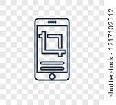 crop concept vector linear icon ...   Shutterstock .eps vector #1217102512