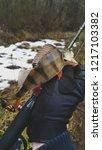 perch fish. russian bass on a... | Shutterstock . vector #1217103382