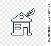eco house concept vector linear ... | Shutterstock .eps vector #1217104435