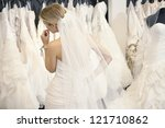 Back View Of A Young Woman In...
