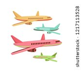 cheap flights. flight concept.... | Shutterstock .eps vector #1217113528
