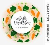 world vegan day 1 november | Shutterstock .eps vector #1217114968