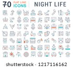 set of vector line icons of... | Shutterstock .eps vector #1217116162