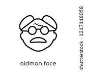 oldman face icon. trendy modern ... | Shutterstock .eps vector #1217118058