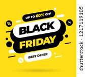 black friday sale inscription... | Shutterstock .eps vector #1217119105