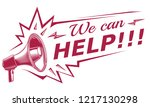 we can help   advertising sign... | Shutterstock .eps vector #1217130298