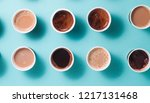 lots of coffee cups with... | Shutterstock . vector #1217131468