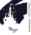 fairy tale vector  castle... | Shutterstock .eps vector #1217133562