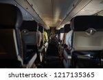 cabin of a passenger plane...   Shutterstock . vector #1217135365