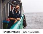 marine deck officer or chief... | Shutterstock . vector #1217139808