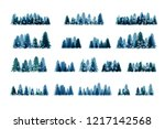 Winter Snowy Forest. Christmas...