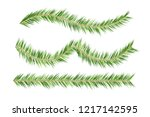 christmas tree decorations. fir ... | Shutterstock .eps vector #1217142595