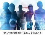 business people silhouettes... | Shutterstock . vector #1217146645