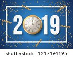 2019 happy new year background... | Shutterstock .eps vector #1217164195