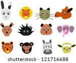 funny animals vector set | Shutterstock .eps vector #121716688