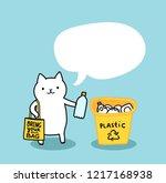 Funny Cat Holding Plastic...
