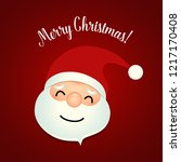 christmas greeting card with... | Shutterstock .eps vector #1217170408