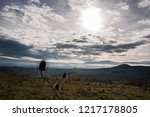 landscape in late autumn with... | Shutterstock . vector #1217178805
