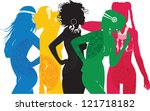 girl symbolizing different...   Shutterstock .eps vector #121718182