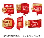 modern sale banners and labels... | Shutterstock .eps vector #1217187175