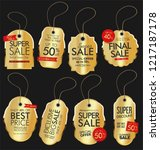 modern sale banners and labels... | Shutterstock .eps vector #1217187178
