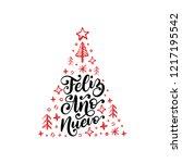 feliz ano nuevo  handwritten... | Shutterstock .eps vector #1217195542