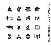 education icon set | Shutterstock .eps vector #1217198242