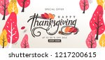 thanksgiving day banner... | Shutterstock .eps vector #1217200615
