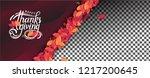 thanksgiving day banner... | Shutterstock .eps vector #1217200645