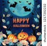 happy halloween design.... | Shutterstock . vector #1217202232