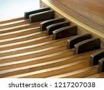 pipe organ pedal keyboard close ... | Shutterstock . vector #1217207038