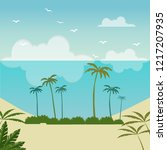 vector cartoon style background ... | Shutterstock .eps vector #1217207935