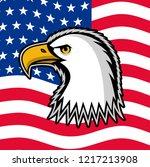 bald eagle symbol of north... | Shutterstock .eps vector #1217213908