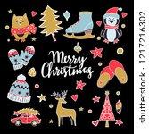 christmas  new year design... | Shutterstock .eps vector #1217216302