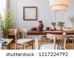 Vintage Wooden Chairs In Livin...