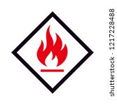 Flammable Icon Logo