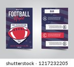 american football flyer. sports ...   Shutterstock .eps vector #1217232205