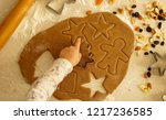 new year's cookies. cover ... | Shutterstock . vector #1217236585