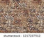 leopard design pattern  | Shutterstock . vector #1217237512