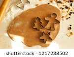 new year's cookies. cover ... | Shutterstock . vector #1217238502