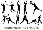 volleyball | Shutterstock .eps vector #121723918