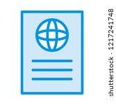 passport   id  ticket   | Shutterstock .eps vector #1217241748
