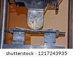 bending test for steel... | Shutterstock . vector #1217243935