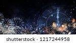 happy new year 2019 background | Shutterstock . vector #1217244958
