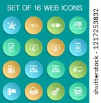 electronics repair web icons on ... | Shutterstock .eps vector #1217253832